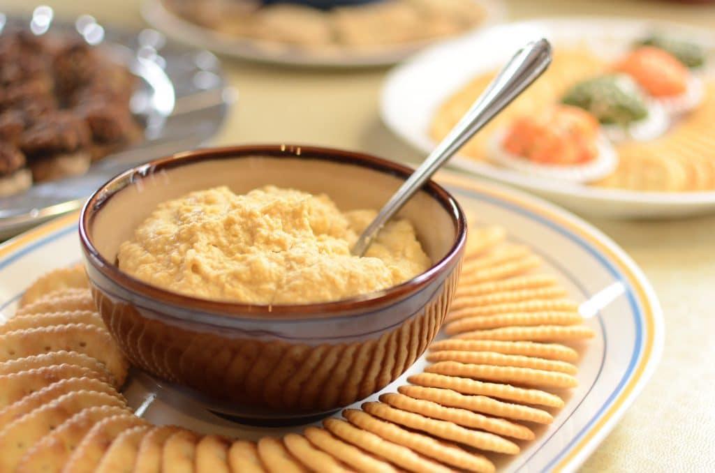 Les crackers au cheddar