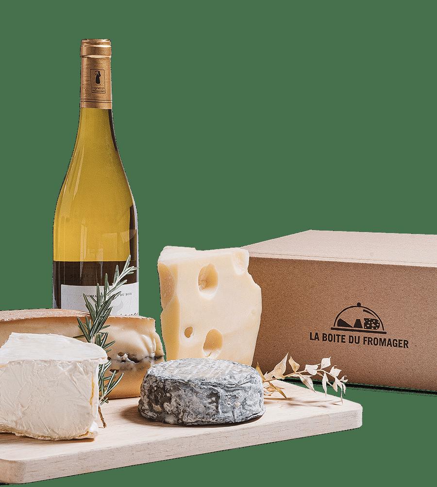 box de vin et fromage