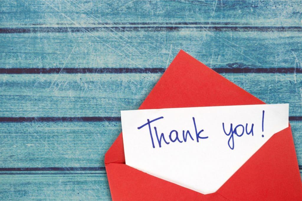 Qu'est-ce qu'une lettre de remerciement ?